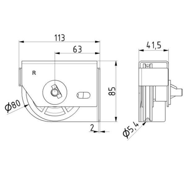paire-poulies-80-mm-avec-support-dimensions-25261