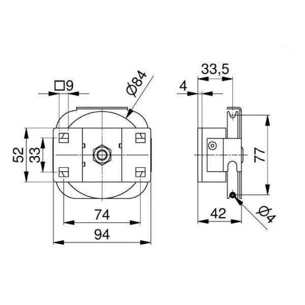 poulie-acier-80-mm-avec-support-dimensions-25271