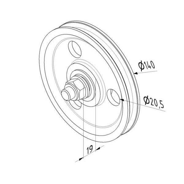 poulie-fonte-140-mm-dimensions-25358